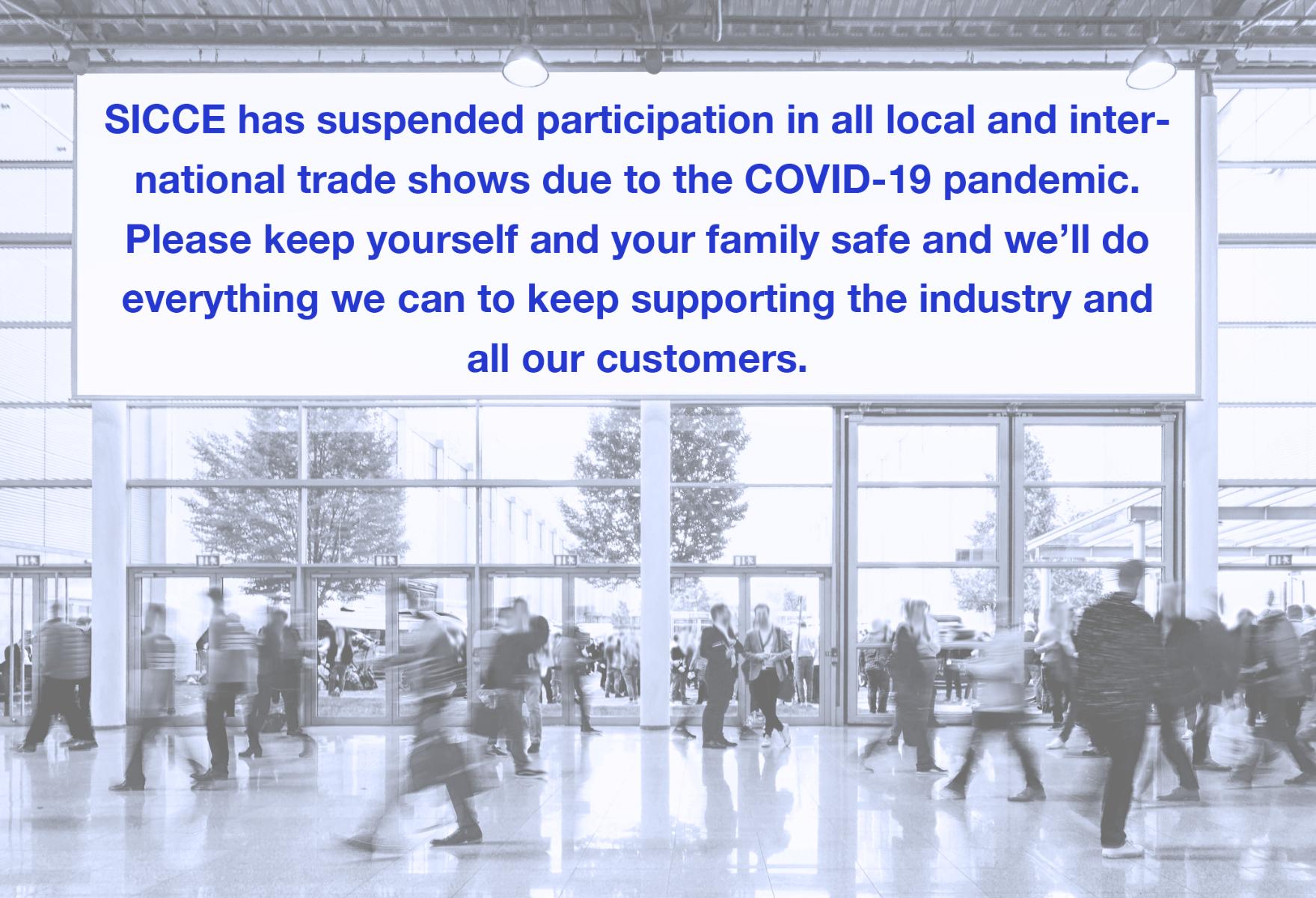 tradeshow suspension